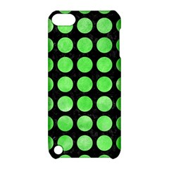 Circles1 Black Marble & Green Watercolor Apple Ipod Touch 5 Hardshell Case With Stand by trendistuff