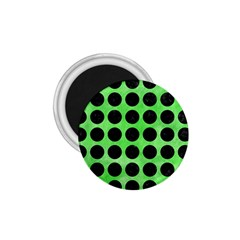 Circles1 Black Marble & Green Watercolor (r) 1 75  Magnets by trendistuff