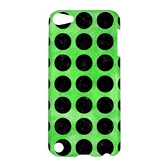 Circles1 Black Marble & Green Watercolor (r) Apple Ipod Touch 5 Hardshell Case by trendistuff
