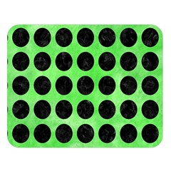 Circles1 Black Marble & Green Watercolor (r) Double Sided Flano Blanket (large)  by trendistuff
