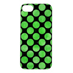 Circles2 Black Marble & Green Watercolor Apple Iphone 5s/ Se Hardshell Case