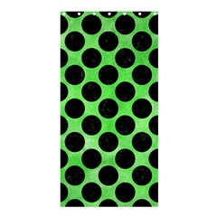Circles2 Black Marble & Green Watercolor (r) Shower Curtain 36  X 72  (stall)  by trendistuff