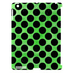Circles2 Black Marble & Green Watercolor (r) Apple Ipad 3/4 Hardshell Case (compatible With Smart Cover) by trendistuff