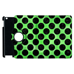Circles2 Black Marble & Green Watercolor (r) Apple Ipad 2 Flip 360 Case by trendistuff