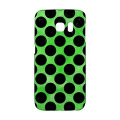 Circles2 Black Marble & Green Watercolor (r) Galaxy S6 Edge by trendistuff