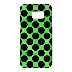 Circles2 Black Marble & Green Watercolor (r) Samsung Galaxy S7 Hardshell Case