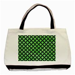 Circles3 Black Marble & Green Watercolor (r) Basic Tote Bag by trendistuff
