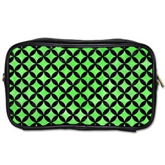 Circles3 Black Marble & Green Watercolor (r) Toiletries Bags 2 Side by trendistuff