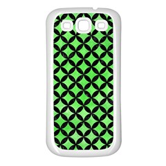 Circles3 Black Marble & Green Watercolor (r) Samsung Galaxy S3 Back Case (white) by trendistuff