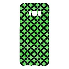 Circles3 Black Marble & Green Watercolor (r) Samsung Galaxy S8 Plus Hardshell Case