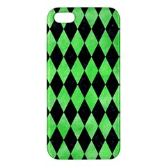 Diamond1 Black Marble & Green Watercolor Iphone 5s/ Se Premium Hardshell Case by trendistuff