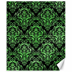 Damask1 Black Marble & Green Watercolor Canvas 20  X 24   by trendistuff