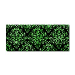 Damask1 Black Marble & Green Watercolor Cosmetic Storage Cases by trendistuff