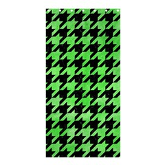 Houndstooth1 Black Marble & Green Watercolor Shower Curtain 36  X 72  (stall)  by trendistuff