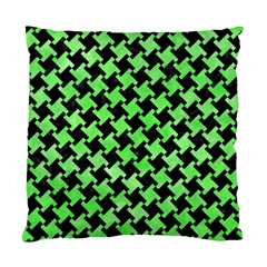 Houndstooth2 Black Marble & Green Watercolor Standard Cushion Case (one Side) by trendistuff