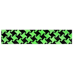 Houndstooth2 Black Marble & Green Watercolor Flano Scarf (small) by trendistuff