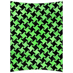 Houndstooth2 Black Marble & Green Watercolor Back Support Cushion by trendistuff