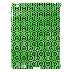 Hexagon1 Black Marble & Green Watercolor (r) Apple Ipad 3/4 Hardshell Case (compatible With Smart Cover) by trendistuff