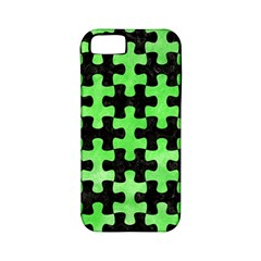 Puzzle1 Black Marble & Green Watercolor Apple Iphone 5 Classic Hardshell Case (pc+silicone) by trendistuff