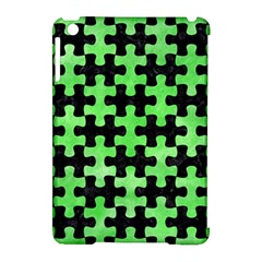Puzzle1 Black Marble & Green Watercolor Apple Ipad Mini Hardshell Case (compatible With Smart Cover) by trendistuff