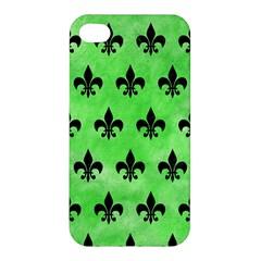 Royal1 Black Marble & Green Watercolor Apple Iphone 4/4s Premium Hardshell Case