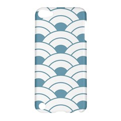 Art Deco,shell Pattern,teal,white Apple Ipod Touch 5 Hardshell Case by 8fugoso
