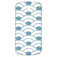Art Deco,shell Pattern,teal,white Samsung Galaxy S3 S Iii Classic Hardshell Back Case by 8fugoso