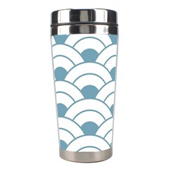 Art Deco,shell Pattern,teal,white Stainless Steel Travel Tumblers by 8fugoso