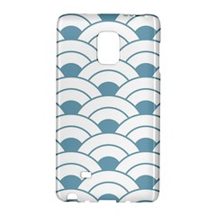 Art Deco,shell Pattern,teal,white Galaxy Note Edge by 8fugoso