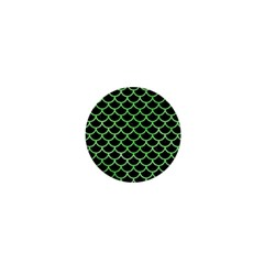 Scales1 Black Marble & Green Watercolor 1  Mini Buttons