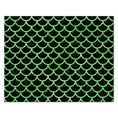 Scales1 Black Marble & Green Watercolor Rectangular Jigsaw Puzzl
