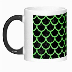 Scales1 Black Marble & Green Watercolor Morph Mugs by trendistuff