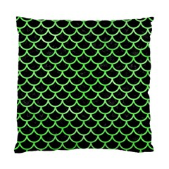 Scales1 Black Marble & Green Watercolor Standard Cushion Case (one Side) by trendistuff