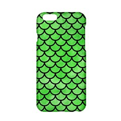 Scales1 Black Marble & Green Watercolor (r) Apple Iphone 6/6s Hardshell Case by trendistuff