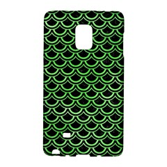 Scales2 Black Marble & Green Watercolor Galaxy Note Edge by trendistuff