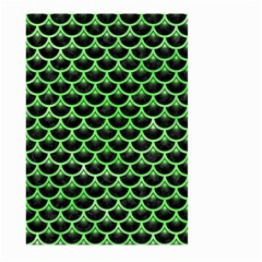 Scales3 Black Marble & Green Watercolor Large Garden Flag (two Sides) by trendistuff