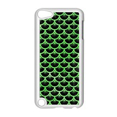 Scales3 Black Marble & Green Watercolor Apple Ipod Touch 5 Case (white) by trendistuff