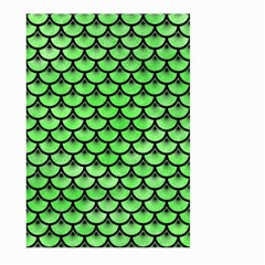 Scales3 Black Marble & Green Watercolor (r) Large Garden Flag (two Sides) by trendistuff
