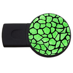 Skin1 Black Marble & Green Watercolor Usb Flash Drive Round (2 Gb) by trendistuff