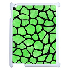 Skin1 Black Marble & Green Watercolor Apple Ipad 2 Case (white) by trendistuff