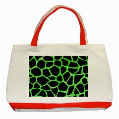 Skin1 Black Marble & Green Watercolor (r) Classic Tote Bag (red) by trendistuff