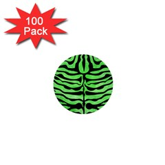 Skin2 Black Marble & Green Watercolor (r) 1  Mini Buttons (100 Pack)  by trendistuff