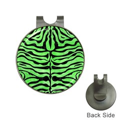 Skin2 Black Marble & Green Watercolor (r) Hat Clips With Golf Markers by trendistuff