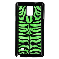 Skin2 Black Marble & Green Watercolor (r) Samsung Galaxy Note 4 Case (black) by trendistuff