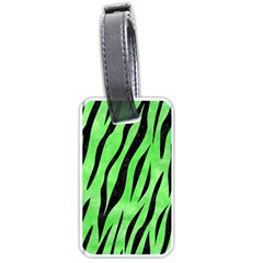 Skin3 Black Marble & Green Watercolor (r) Luggage Tags (two Sides) by trendistuff