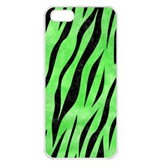 Skin3 Black Marble & Green Watercolor (r) Apple Iphone 5 Seamless Case (white) by trendistuff