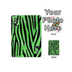 Skin4 Black Marble & Green Watercolor Playing Cards 54 (mini)  by trendistuff