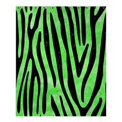 Skin4 Black Marble & Green Watercolor Shower Curtain 60  X 72  (medium)