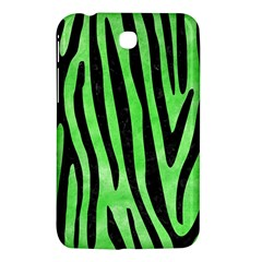 Skin4 Black Marble & Green Watercolor Samsung Galaxy Tab 3 (7 ) P3200 Hardshell Case