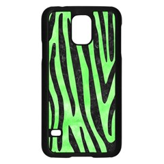 Skin4 Black Marble & Green Watercolor Samsung Galaxy S5 Case (black)